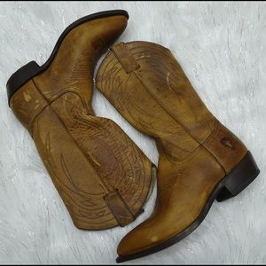 Frye Billy Pull On Cowboy Boots Size 9.5